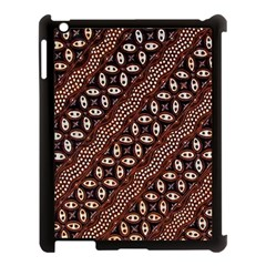 Art Traditional Batik Pattern Apple Ipad 3/4 Case (black)