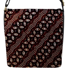Art Traditional Batik Pattern Flap Messenger Bag (s)