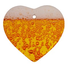 Beer Alcohol Drink Drinks Ornament (heart)
