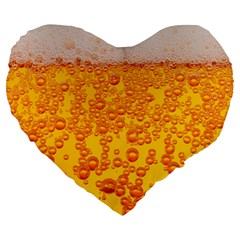 Beer Alcohol Drink Drinks Large 19  Premium Heart Shape Cushions by BangZart