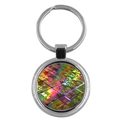 Technology Circuit Computer Key Chains (round)  by BangZart