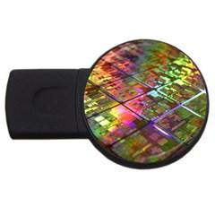 Technology Circuit Computer Usb Flash Drive Round (2 Gb)