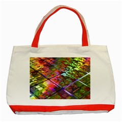 Technology Circuit Computer Classic Tote Bag (red) by BangZart