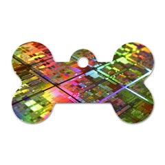 Technology Circuit Computer Dog Tag Bone (two Sides) by BangZart