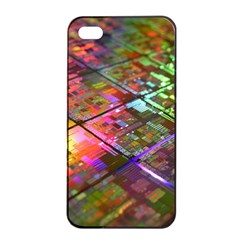 Technology Circuit Computer Apple Iphone 4/4s Seamless Case (black)