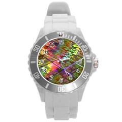 Technology Circuit Computer Round Plastic Sport Watch (l) by BangZart