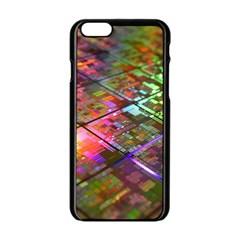Technology Circuit Computer Apple Iphone 6/6s Black Enamel Case by BangZart