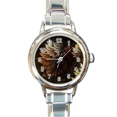 Fractalius Abstract Forests Fractal Fractals Round Italian Charm Watch