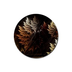 Fractalius Abstract Forests Fractal Fractals Rubber Coaster (round)