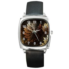 Fractalius Abstract Forests Fractal Fractals Square Metal Watch