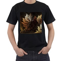 Fractalius Abstract Forests Fractal Fractals Men s T Shirt (black) (two Sided)