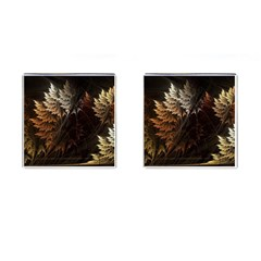 Fractalius Abstract Forests Fractal Fractals Cufflinks (square)