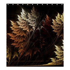 Fractalius Abstract Forests Fractal Fractals Shower Curtain 66  X 72  (large)