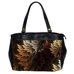 Fractalius Abstract Forests Fractal Fractals Office Handbags (2 Sides)  by BangZart