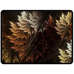 Fractalius Abstract Forests Fractal Fractals Double Sided Fleece Blanket (large)