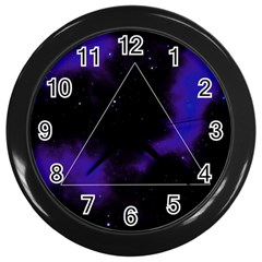 Space Wall Clocks (black) by Valentinaart