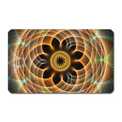 Mixed Chaos Flower Colorful Fractal Magnet (rectangular)