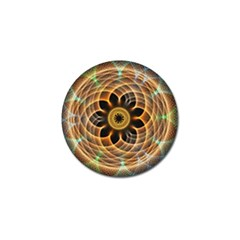 Mixed Chaos Flower Colorful Fractal Golf Ball Marker by BangZart