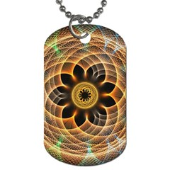 Mixed Chaos Flower Colorful Fractal Dog Tag (two Sides)