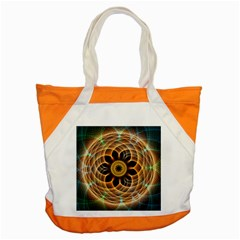 Mixed Chaos Flower Colorful Fractal Accent Tote Bag