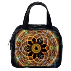 Mixed Chaos Flower Colorful Fractal Classic Handbags (one Side)