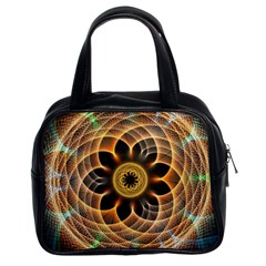 Mixed Chaos Flower Colorful Fractal Classic Handbags (2 Sides) by BangZart