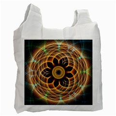Mixed Chaos Flower Colorful Fractal Recycle Bag (two Side)