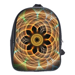 Mixed Chaos Flower Colorful Fractal School Bags(large)