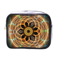 Mixed Chaos Flower Colorful Fractal Mini Toiletries Bags