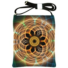 Mixed Chaos Flower Colorful Fractal Shoulder Sling Bags