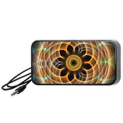 Mixed Chaos Flower Colorful Fractal Portable Speaker (black)