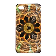 Mixed Chaos Flower Colorful Fractal Apple Iphone 4/4s Seamless Case (black)