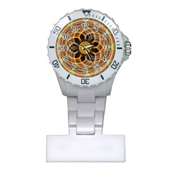 Mixed Chaos Flower Colorful Fractal Plastic Nurses Watch by BangZart