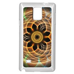 Mixed Chaos Flower Colorful Fractal Samsung Galaxy Note 4 Case (white)