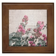 Shabby Chic Style Floral Photo Framed Tiles by dflcprints