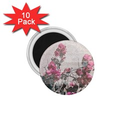 Shabby Chic Style Floral Photo 1 75  Magnets (10 Pack)  by dflcprints