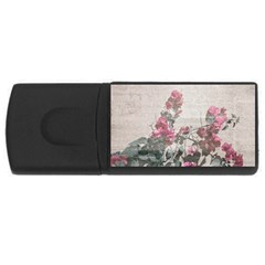 Shabby Chic Style Floral Photo Rectangular Usb Flash Drive by dflcprints