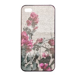 Shabby Chic Style Floral Photo Apple Iphone 4/4s Seamless Case (black) by dflcprints