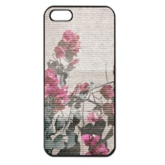 Shabby Chic Style Floral Photo Apple Iphone 5 Seamless Case (black) by dflcprints