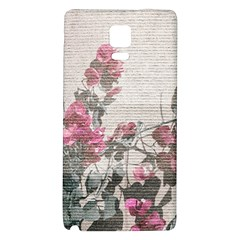 Shabby Chic Style Floral Photo Galaxy Note 4 Back Case by dflcprints