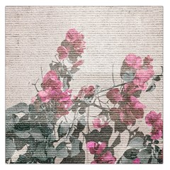 Shabby Chic Style Floral Photo Large Satin Scarf (square) by dflcprints