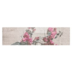 Shabby Chic Style Floral Photo Satin Scarf (oblong) by dflcprints