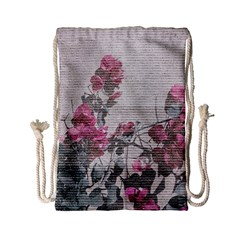 Shabby Chic Style Floral Photo Drawstring Bag (small) by dflcprints