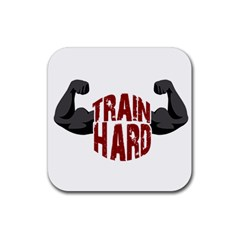 Train Hard Rubber Square Coaster (4 Pack)  by Valentinaart