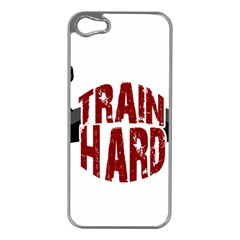 Train Hard Apple Iphone 5 Case (silver) by Valentinaart