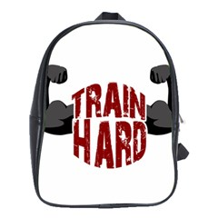 Train Hard School Bags (xl)  by Valentinaart
