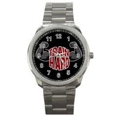 Train Hard Sport Metal Watch by Valentinaart