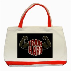 Train Hard Classic Tote Bag (red) by Valentinaart