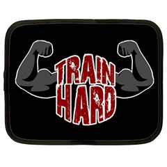 Train Hard Netbook Case (large) by Valentinaart
