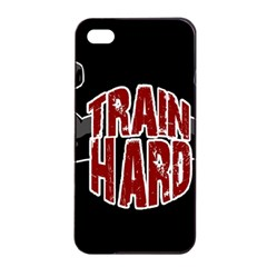 Train Hard Apple Iphone 4/4s Seamless Case (black) by Valentinaart